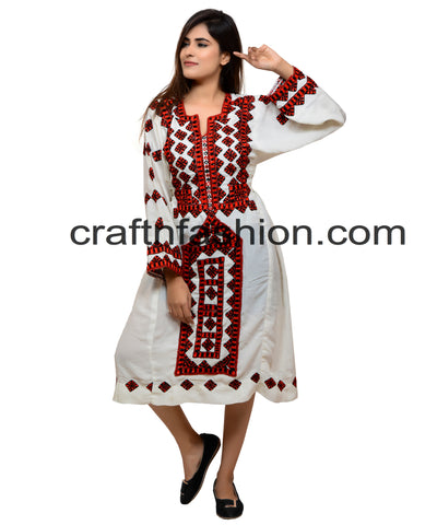 Vintage Kuchi Hand Embroidered Dress