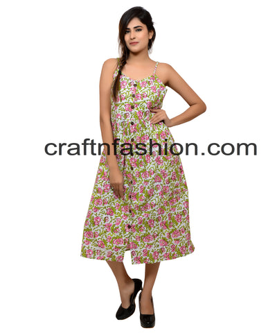Floral Printed Bollywood Style Dress