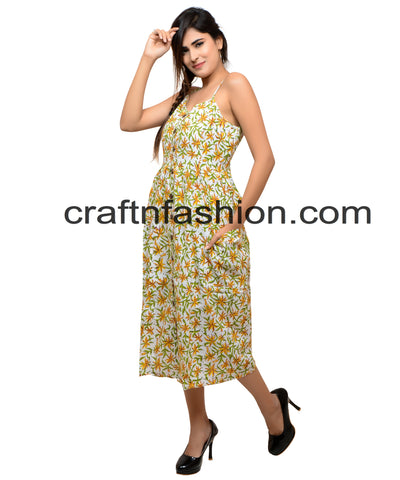 Women's Fashion Wear Dress With Pocket