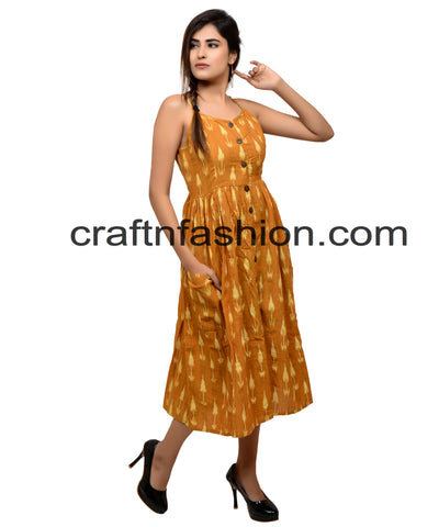 Ikat Handwoven Bohemian Tunic/Top/Dress