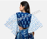 Indigo Butterfly Sleeve Top