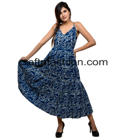 Exclusive Beach Wear Indigo Maxi Dress