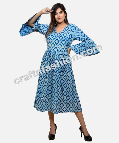 Indian Cotton Hand Block Print Kurti