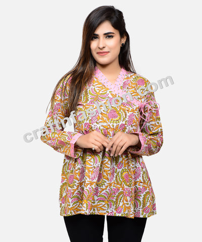 Cotton Boho Gypsy Designer Kedia Top