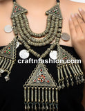1960's Afghani Kuchi German Silver Necklace