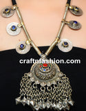 Afghani German Silver Coin Necklace