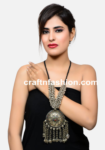 Vintage Afghani Ghungroo Charm Necklace