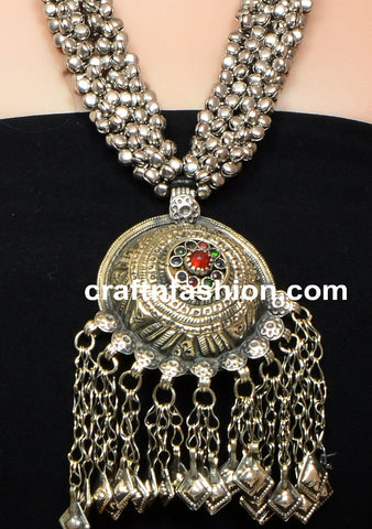 German Silver Belly Dance Costume Necklace