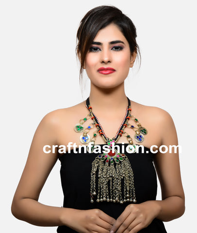 Women's Fashion Wear Afghani Necklace