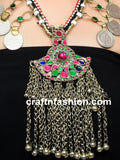 Bohemian Gypsy Afghani Coin Necklace
