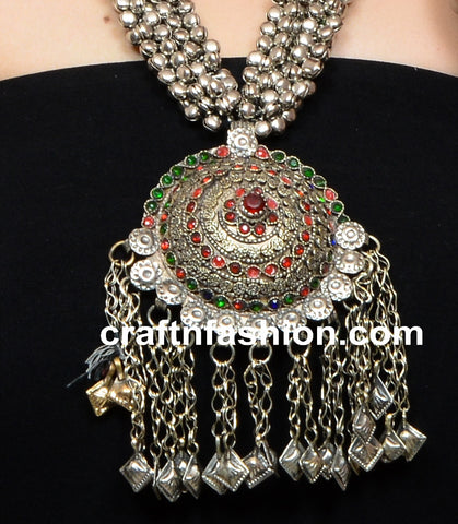 1960's Tribal Gypsy Bohemian Kuchi Necklace