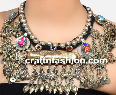 Handmade Boho Antique Afghani Necklace
