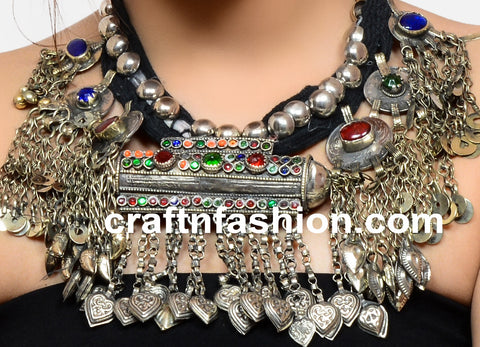 Women's Afghani Traditional Banjara Necklace