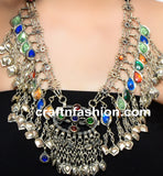 Boho Gypsy Tribal Banjara Kuchi Necklace