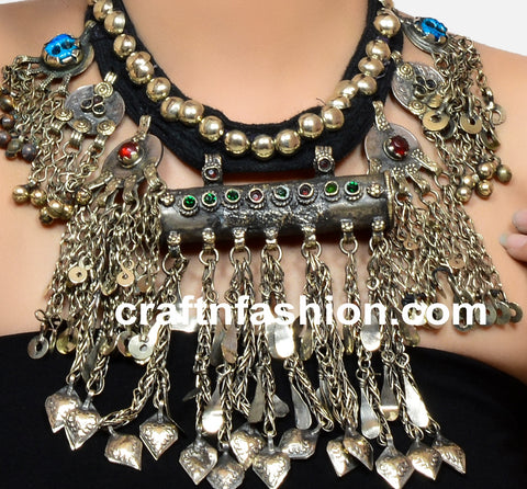 Ethnic Boho Vintage Afghani Necklace