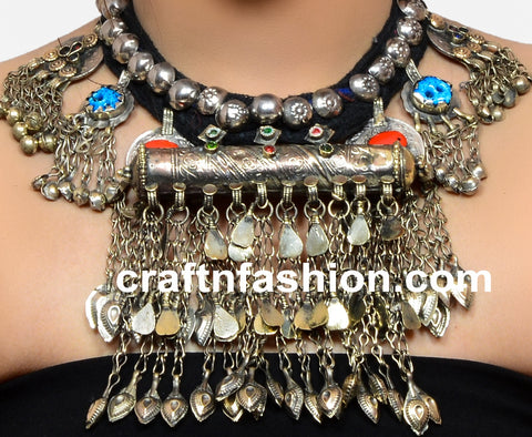Designer Boho Gypsy Afghani Necklace