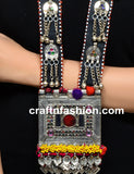 Exclusive Vintage Long Afghani Coin Necklace