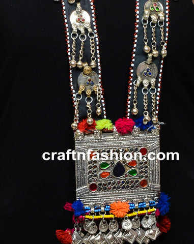 Handmade Afghani Oversized Pendant Necklace