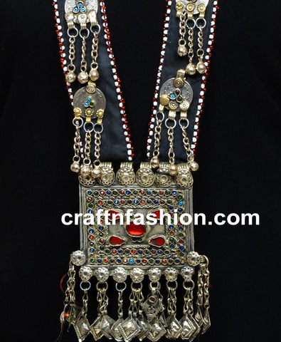 Stone Beaded Vintage Afghani Coin Necklace