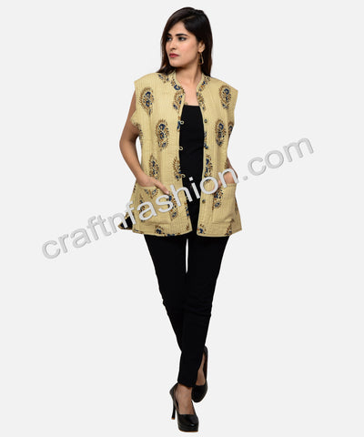 Fashion Wear Sleeveless Quilted Reversible Jacket