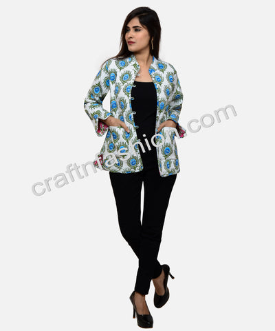 Boho Gypsy Winter Wear Quilted Jacket