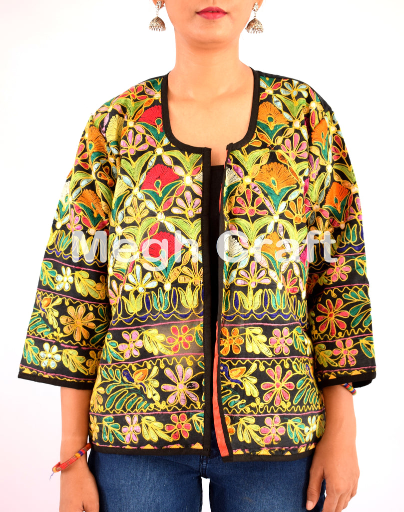Vintage Banjara Embroidery Mirror work Jacket