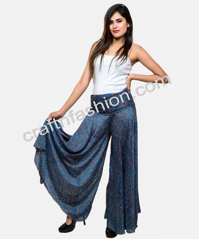 Umbrella Flared Wide Leg Trouser