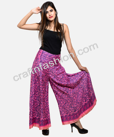 Designer Silk Saree Made Umbrella Trouser