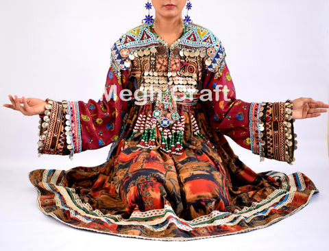 Afghani Gypsy Kuchi Tassel Dress
