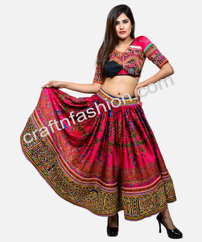 Women's Navratri Fashion Embroidered Skirt