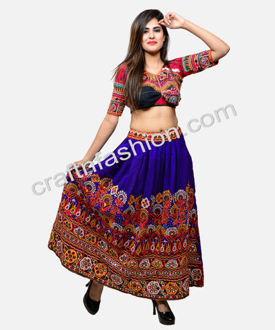 Belly Dance Wear Mirror Work Kutch Skirt