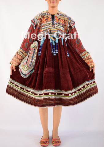 Afghan Kuchi Handmade Tassel dress
