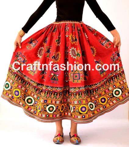 Traditional Kutchi Ladies Rabari Skirt
