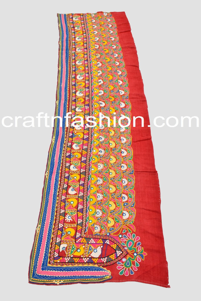 Gujarati Traditional Hand Embroidered Border