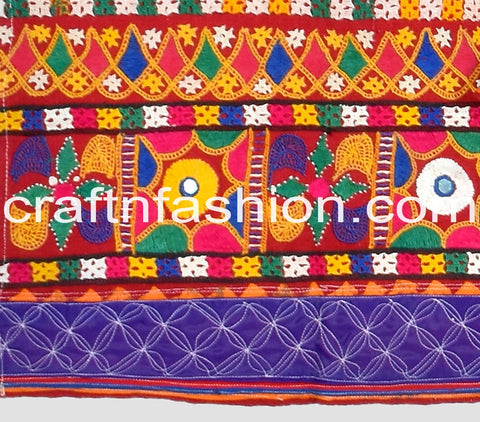 Vintage Original Kutch Embroidery Border Lace
