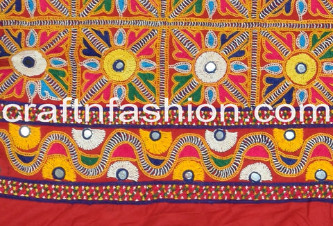 Indian Traditional Mirror Work Border Lace
