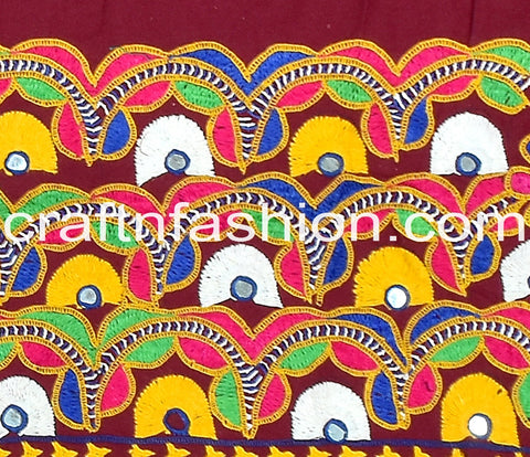 Kutch Work Embroidered Border Lace