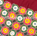 Cotton Thread Embroidered Kutch Border