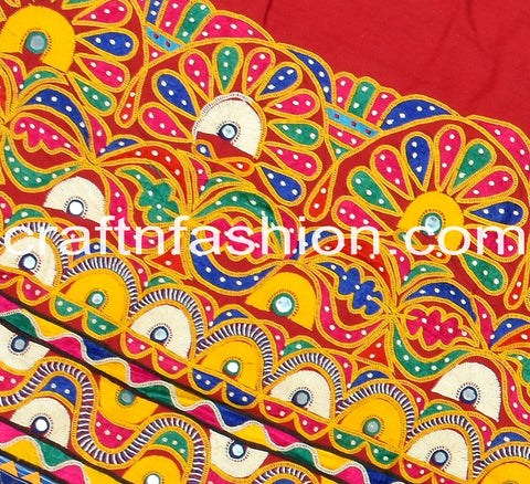 Indian Ethnic Mirror Work Border Lace