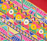 Gujarati Ethnic Hand Embroidery Border Lace