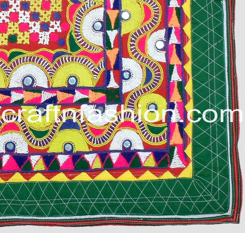 Kutchi Mirror Work Designer Border Lace