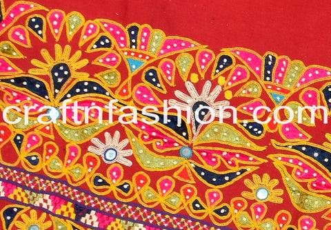 Hand Embroidery Kutch Work Border Lace