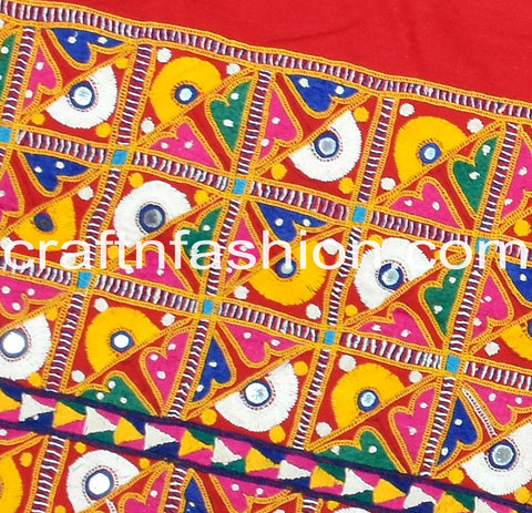 Original Handmade Kutchi Work Border
