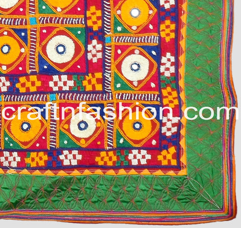Rabari Embroidery Multi Colored Border Lace