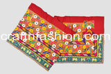 Gujarati Traditional Mirror Beaded Kutch Lace