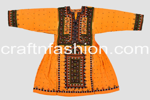 Vintage Hand Embroidered Kuchi Dress