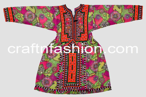 Multi Colored Handmade Tribal Kuchi Tunic