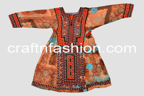 Ethnic Hand Embroidered Women's Kuchi Dress