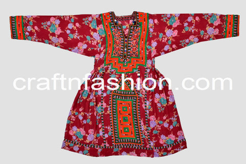 Traditional Kuchi Hand Embroidered Dress