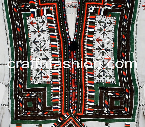 Embroidered Tribal Gypsy Kuchi Dress